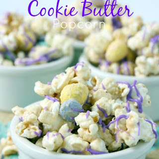 White Chocolate Cookie Butter Popcorn