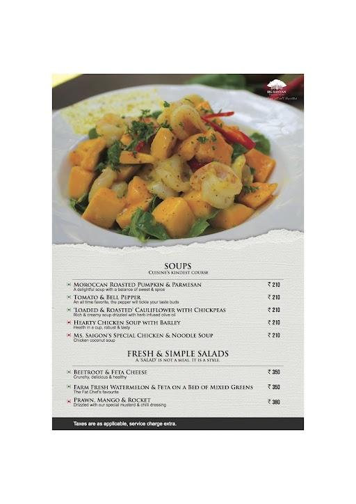 The Fat Chef menu 1