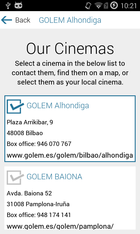 Cines Golem- screenshot