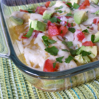 Chicken Enchiladas with Verde Sauce