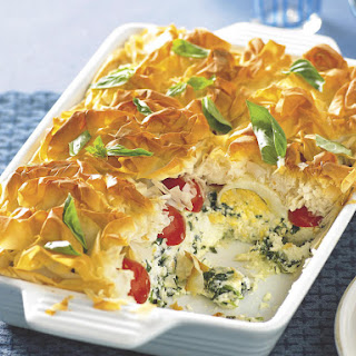 Spinach, Egg and Tomato Pie