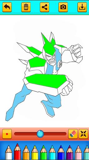 Ben Coloring 10 Ultimate Heros Aliens hack tool