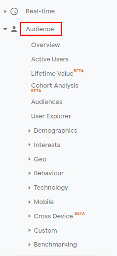 audience demographics google analytics