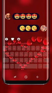 Love Heart Keyboard Red Romance - náhled