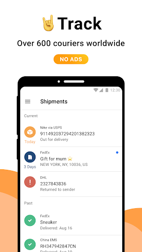 AfterShip Package Tracker screenshot 1