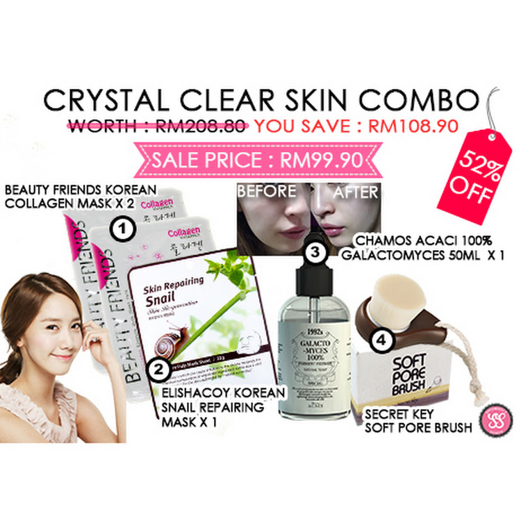 Crystal Clear Skin Combo by Supermodels Secrets