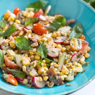 Raw Corn Salad With Shiso and Basil