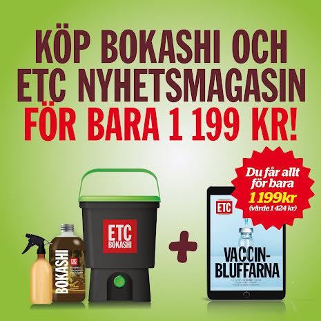 Bokashi och 3 månader digital ETC Nyhetsmagasin för bara 1199 kr!