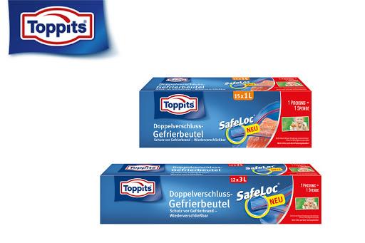 Bild für Cashback-Angebot: Toppits Gefrierbeutel SafeLoc 1l / 3l