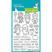 Lawn Fawn Clear Stamps 4X6 - Costume Party