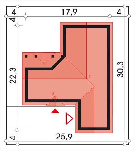 Gracja wersja B z podwójnym garażem powiększonym - Sytuacja