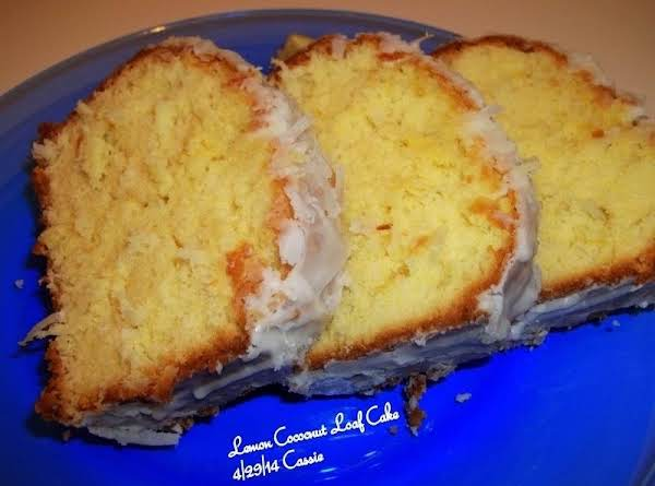 Lemon / Coconut Loaf Cake Recipe