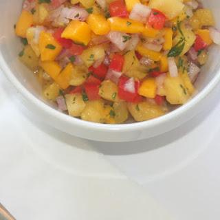 Pineapple and Mango Salsa.