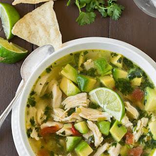 Chicken Avocado Lime Soup.