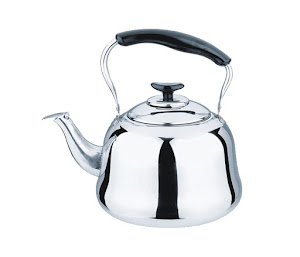 Ceainic metalic cu fluier, capacitate 1.5 litri