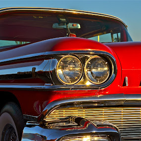 SUPER 88 by Udo Weber - Transportation Automobiles ( olds, super 88, red, auto, crome, classic, close )
