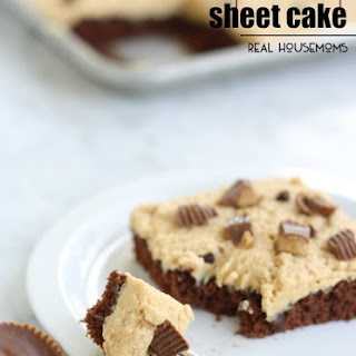 Chocolate Peanut Butter Cup Sheet Cake