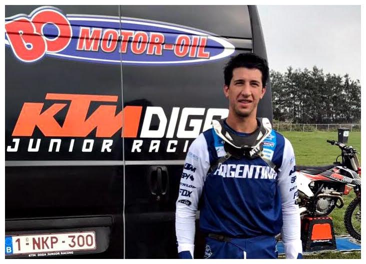 El piloto de Bariloche entrenó tres semanas en Europa.