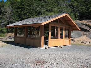 Photo: Day 8: New picnic shelter at Sucia Island. This was being constructed the last time we were here in a boat in 2006.