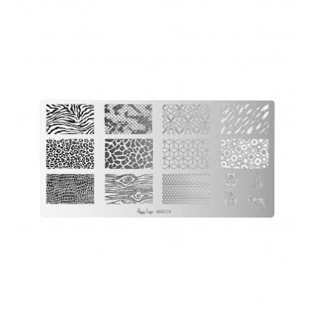 Nail art stamping plate - Wildlife