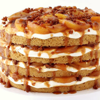 Naked Peach Cobbler Cake