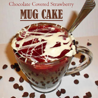 Chocolate Covered Strawberry Mug Cake