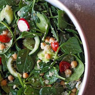 Spinach Garbanzo Bean Salad