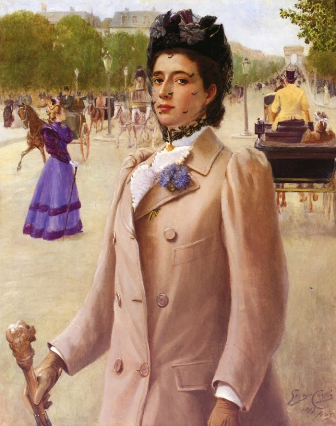 Portrait of a Lady on the Champs Elysees by George Vaughan Curtis - 1893.