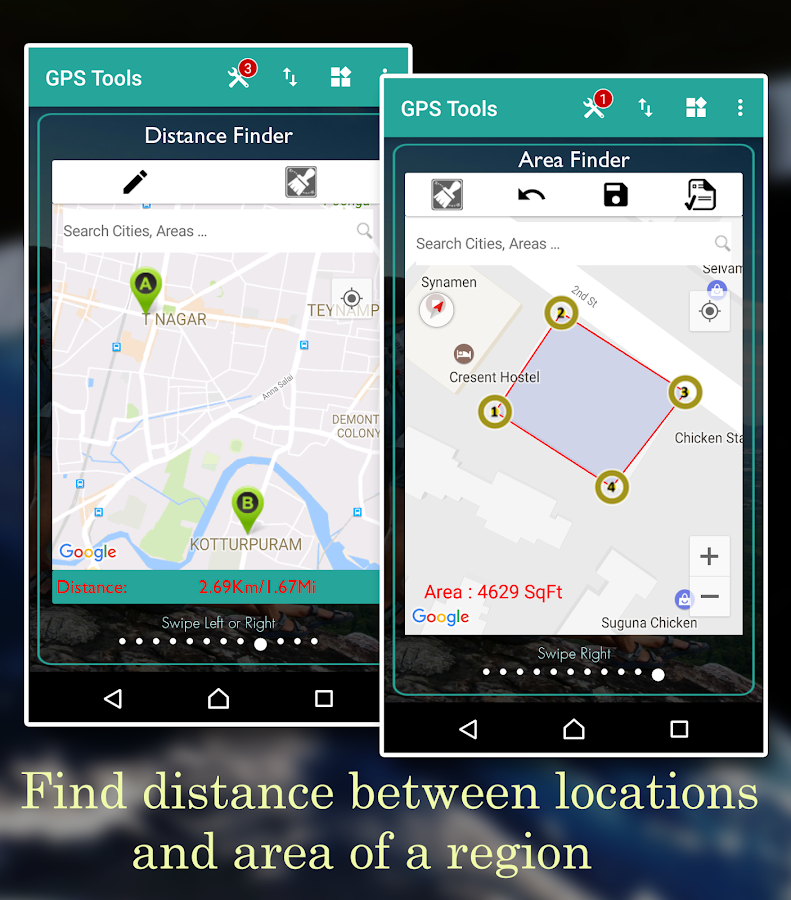 Screenshots of GPS Tools for iPhone