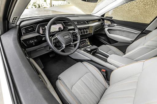 The interior of the Audi E-Tron.