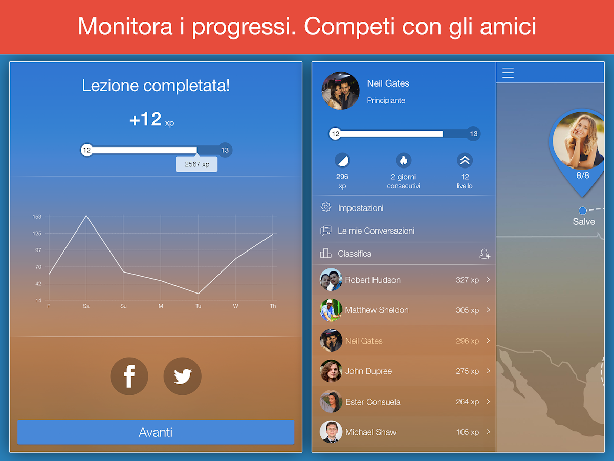 Impara il portoghese - Mondly- screenshot