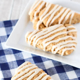 Gluten Free Vegan Maple Oat Scones.