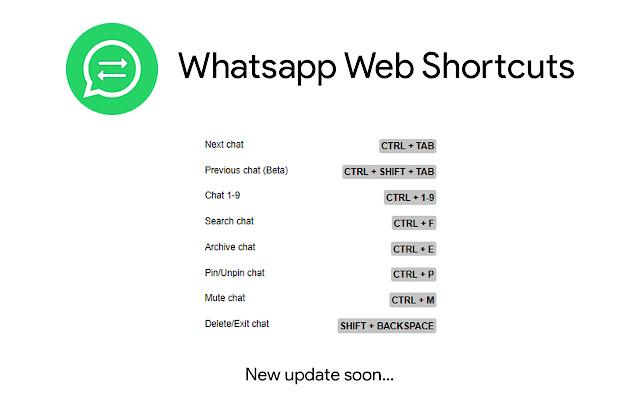 WhatsApp Web Shortcuts