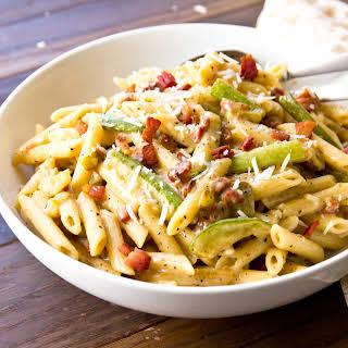Penne & Zucchini Carbonara.