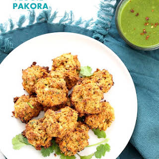 Mixed Vegetable Pakora Baked.