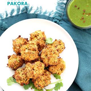 Mixed Vegetable Pakora Baked.