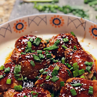 Sweet and Sticky Asian Chicken Thighs.