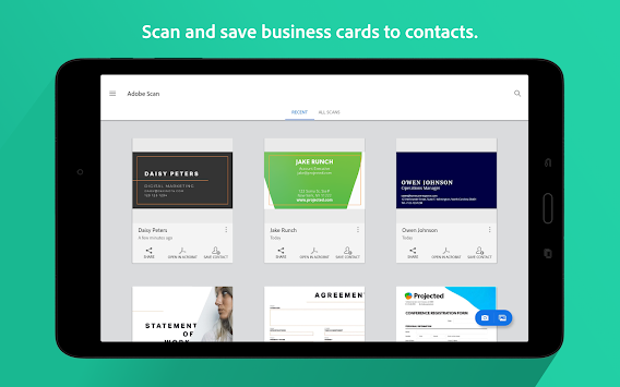 Download Adobe Scan Pdf Business Card Scanner With Ocr