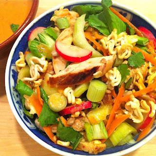Thai Bok Choy Salad with Ginger Peanut Sauce Recipe