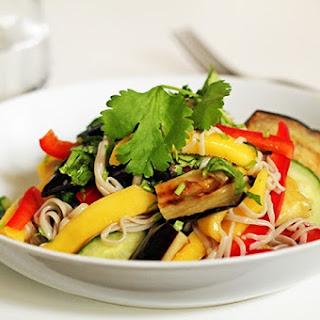 Mango, Roasted Aubergine & Soba Noodle Salad