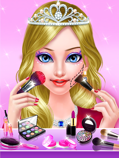 princess makeup salon - girl games screenshot 2