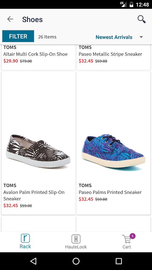 The all-new Nordstrom Rack App for Android puts the brands you love at up to 70% off right at your fingertips. Plus, it gives you instant access to HauteLook's exclusive, limited-time sale events—all from the same app!