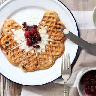 Cranberry And Coconut Waffles.