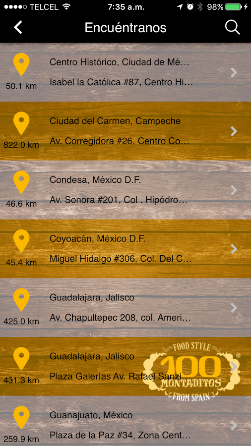 100 Montaditos México- screenshot