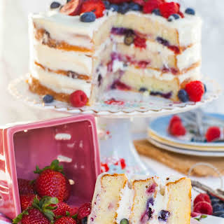 Lemon Berry Mascarpone Cake.