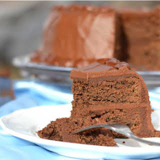 Healthy Chocolate Cake With Sprouted Flour.
