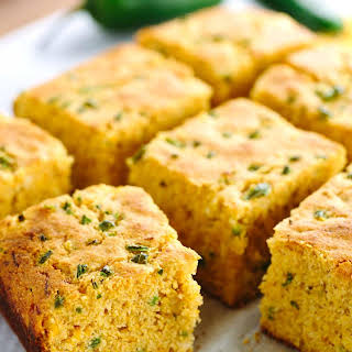 Whole Grain Jalapeno Cheddar Cornbread.