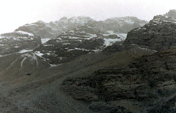Photo: Peaks overlooking Khaplu village Baltistan end of December 1987