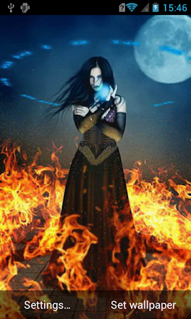Witch On Fire Live Wallpaper 211 Screenshot 1203255