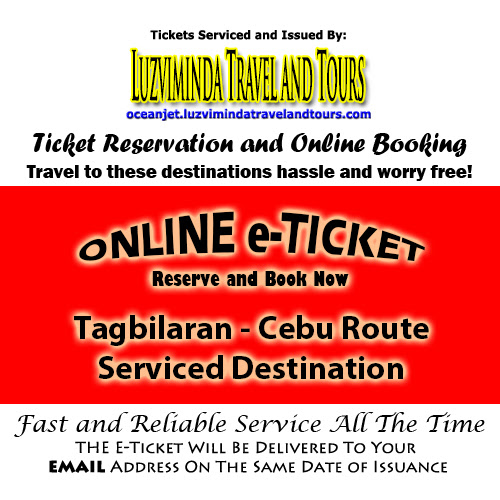 OceanJet Tagbilaran-Cebu Route Ticket Reservation and Online Booking